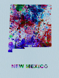 New Mexico Color Splatter Map Plastic Sign by  NaxArt