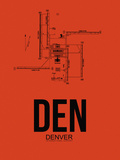 DEN Denver Airport Orange Plastic Sign by  NaxArt