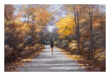 Quiet Walk Print by Diane Romanello
