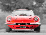 Ferrari Dino 246 GT Front Watercolor Plastic Sign by  NaxArt