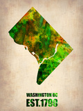Washington Dc Watercolor Map Plastic Sign by  NaxArt