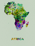 Africa Color Splatter Map Plastic Sign by  NaxArt