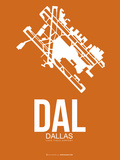 Dal Dallas Poster 2 Plastic Sign by  NaxArt
