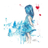 Blue Girl Prints by Lora Zombie