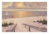 Beach Glow Print by Diane Romanello