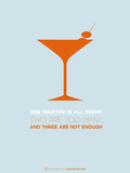 Martini Poster Orange Plastic Sign by  NaxArt