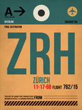 ZRH Zurich Luggage Tag 1 Plastic Sign by  NaxArt