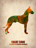Great Dane Poster Znaki plastikowe autor NaxArt