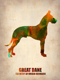 Great Dane Poster Plastic Sign by  NaxArt