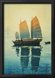 Morning, from a Set of Six Prints of Sailing Boats Framed Giclee Print by Yoshida Hiroshi