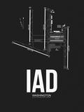 IAD Washington Airport Black Plastic Sign by  NaxArt