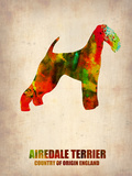 Airedale Terrier Poster Plastic Sign by  NaxArt