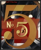 I Saw the Figure 5 in Gold Reproduction giclée encadrée par Charles Demuth