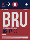 BRU Brussels Luggage Tag 2 Plastic Sign by  NaxArt