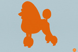 French Poodle Orange Plastic Sign by  NaxArt