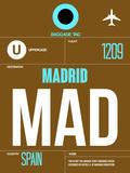 MAD Madrid Luggage Tag 1 Plastic Sign by  NaxArt