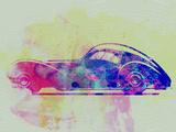 Bugatti Atlantic Watercolor 3 Plastic Sign by  NaxArt