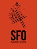 SFO San Francisco Airport Orange Plastic Sign by  NaxArt