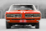 1968 Pontiac GTO Front Watercolor Plastic Sign by  NaxArt