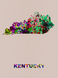 Kentucky Color Splatter Map Plastic Sign by  NaxArt