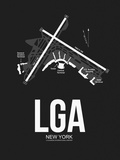 LGA New York Airport Black Plastic Sign by  NaxArt