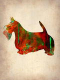 Scottish Terrier Watercolor 2 Plastic Sign by  NaxArt