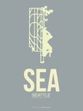 Sea Seattle Poster 3 Plastic Sign by  NaxArt