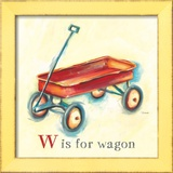 W is for Wagon Prints by Catherine Richards