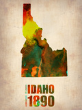 Idaho Watercolor Map Plastic Sign by  NaxArt
