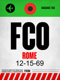 FCO Rome Luggage Tag 1 Plastic Sign by  NaxArt
