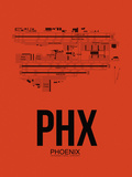 PHX Phoenix Airport Orange Plastic Sign by  NaxArt