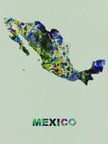Mexico Color Splatter Map Plastskilt av  NaxArt