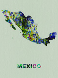 Mexico Color Splatter Map Plastic Sign by  NaxArt