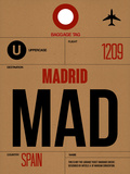 MAD Madrid Luggage Tag 2 Plastic Sign by  NaxArt
