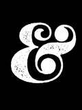 Ampersand Black Plastic Sign by  NaxArt