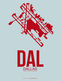 Dal Dallas Poster 3 Plastic Sign by  NaxArt