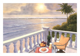 Breakfast on the Veranda Print by Diane Romanello