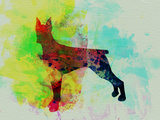 Doberman Pinscher Watercolor Plastic Sign by  NaxArt