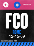 FCO Rome Luggage Tag 2 Plastic Sign by  NaxArt
