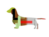 Dachshund Plastic Sign by  NaxArt