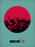 Houston Circle Poster 2 Plastic Sign by  NaxArt