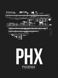 PHX Phoenix Airport Black Plastic Sign by  NaxArt