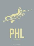 Phl Philadelphia Poster 1 Plastic Sign by  NaxArt