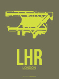 Lhr London Poster 3 Plastic Sign by  NaxArt