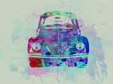 VW Beetle Watercolor 2 Plastic Sign by  NaxArt