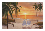 Tropical Sun Watch Print by Diane Romanello