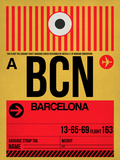 BCN Barcelona Luggage Tag 1 Plastic Sign by  NaxArt