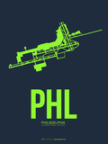 Phl Philadelphia Poster 3 Plastic Sign by  NaxArt