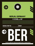BER Berlin Luggage Tag 2 Plastic Sign by  NaxArt