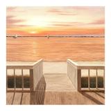 Sunset Deck Prints by Diane Romanello